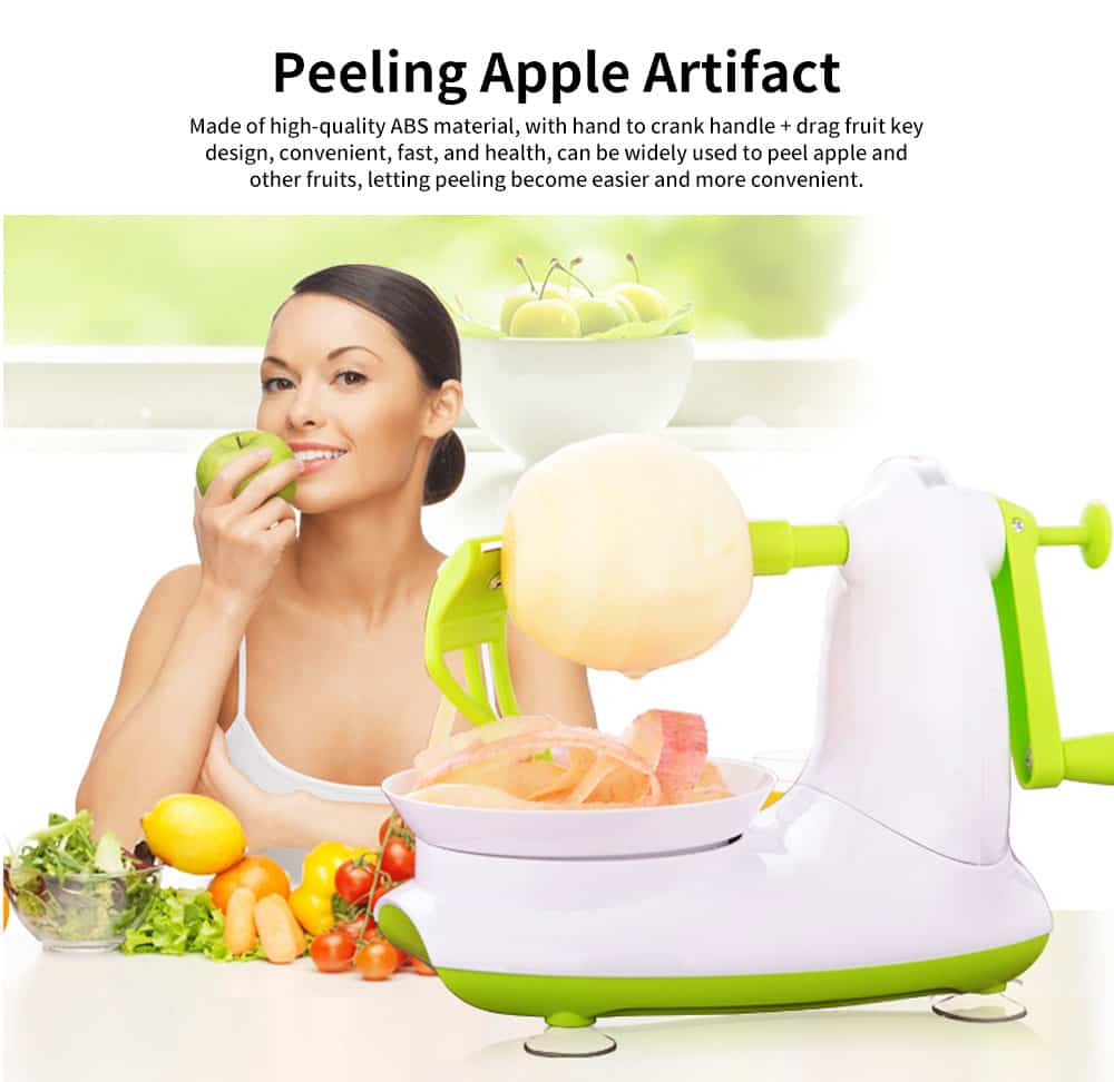 Thickened ABS Peeling Apple Artifact, Multifunctional Peeler, with Crank Handle and Drag Fruit Key 0