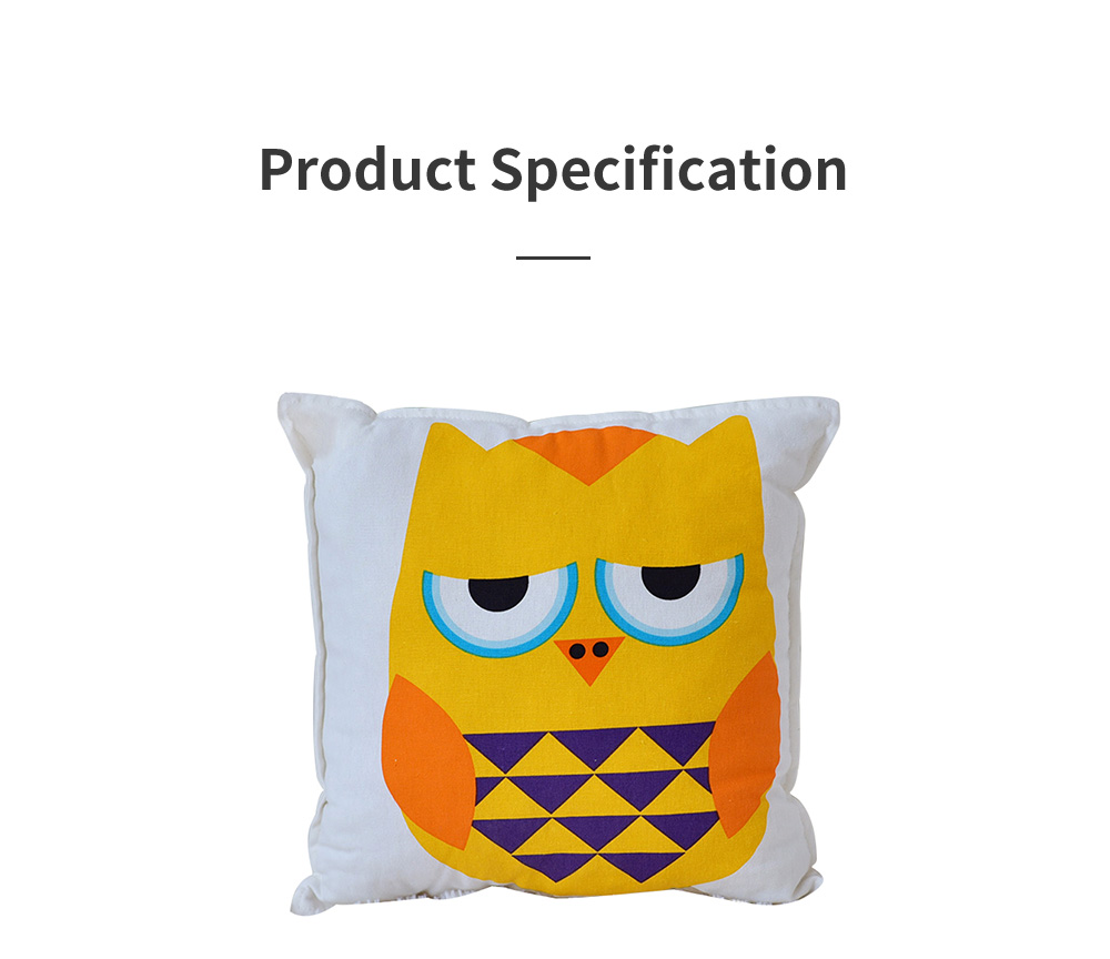 Lovely Owl Pattern Pillow for Car Home Sofa Cotton Pillow with Owl Image Cushion for Sofa 5