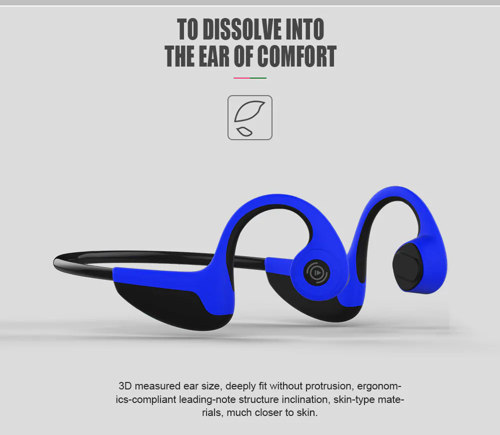 Global Crown Bluetooth Music Call Rear-mounted Sports Headphone Bone Conduction Headphones For Jogging Running Driving Cycling 4