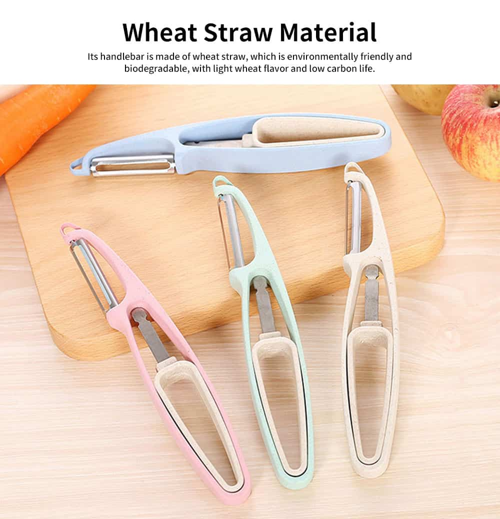 Kitchen Multi-function Paring Knife, Household Wheat Straw Peeling Artifact, for A Variety of Fruits and Vegetables 1
