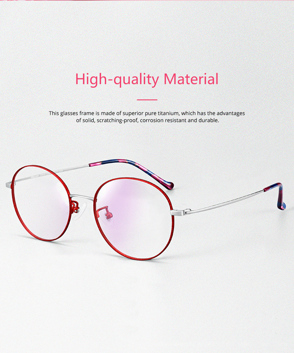 Light Vintage Minimalist Casual Snow Paint Round Glasses Frame with Fashionable Flower Model Legs Comfortable Nose Pad 1