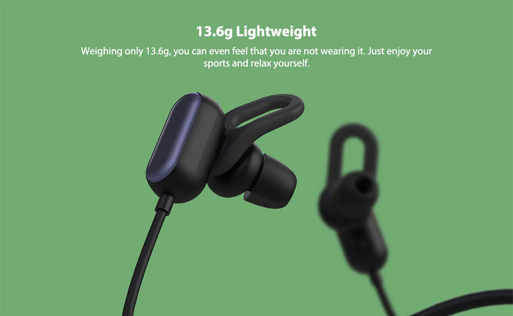 Xiaomi Wireless Headphone Sport Bluetooth Headset Sweat Proof In-ear Hours Playing For Gym Running Workout 3