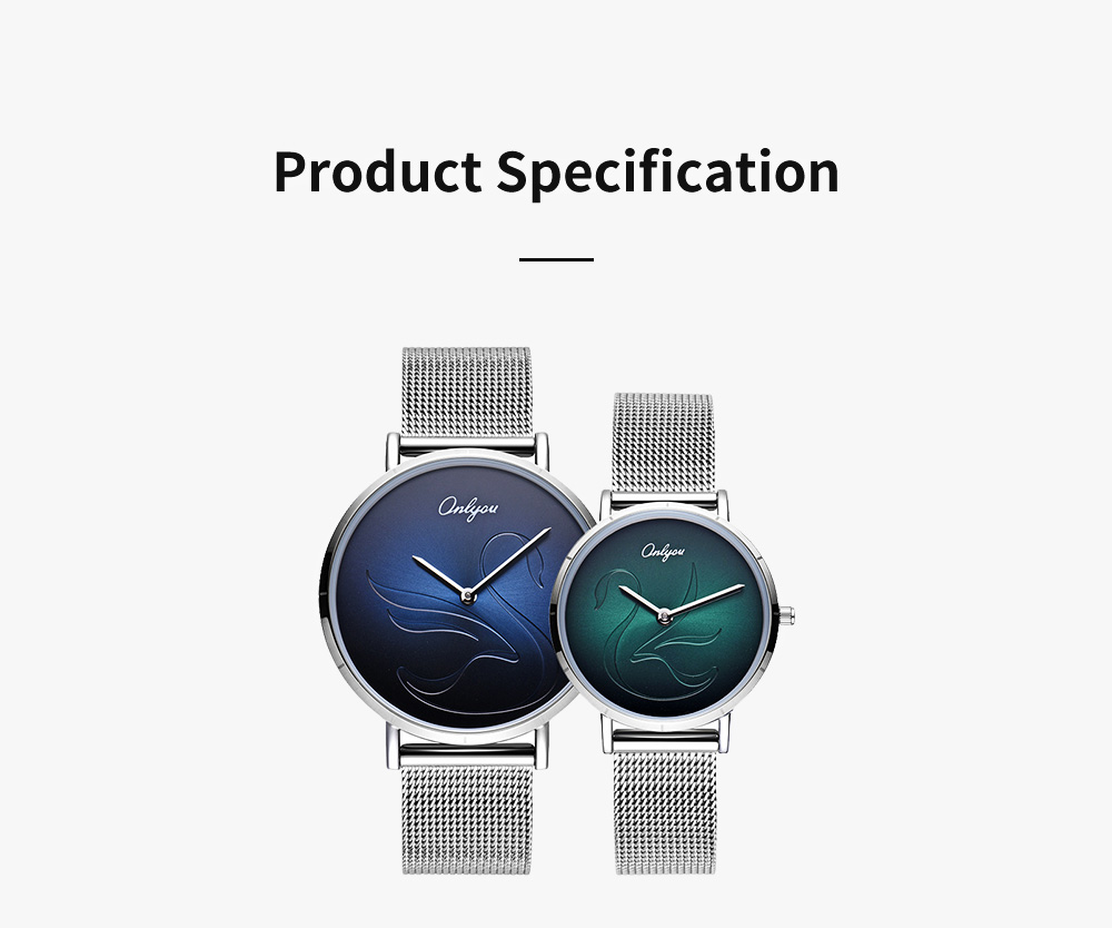 2 Pack Ultra Thin Couple Lovers Wrist Watches Set with Mesh Strap and Quartz Movement for Lovers 8