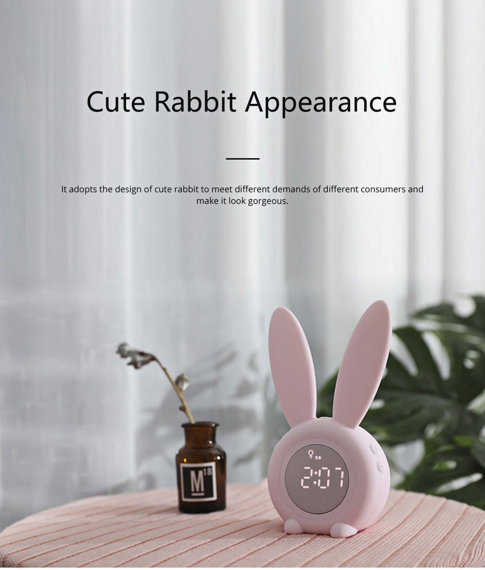 Rabbit Electronic Alarm Clock Timing Subdued Lights Magnetic Suction LED Clock Good Endurance Wake Up Tools 1