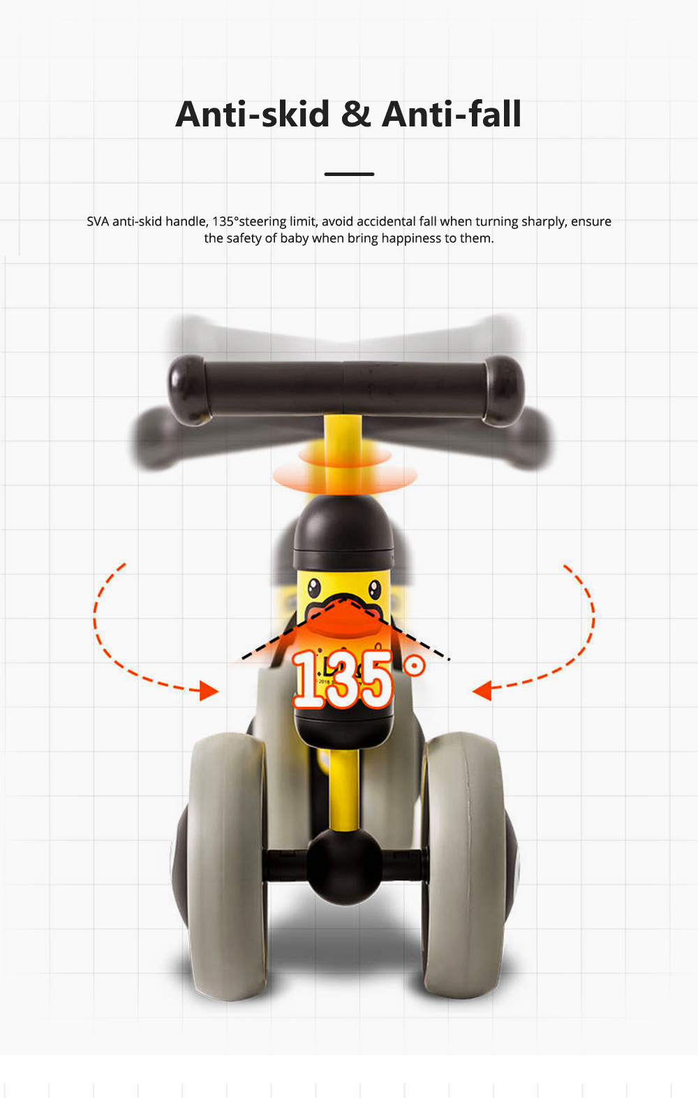 Four-Wheeler Balance Bike for 1-3 Years Old Children Without Pedals Boys and Girls Baby Toy Walker Scooter 2