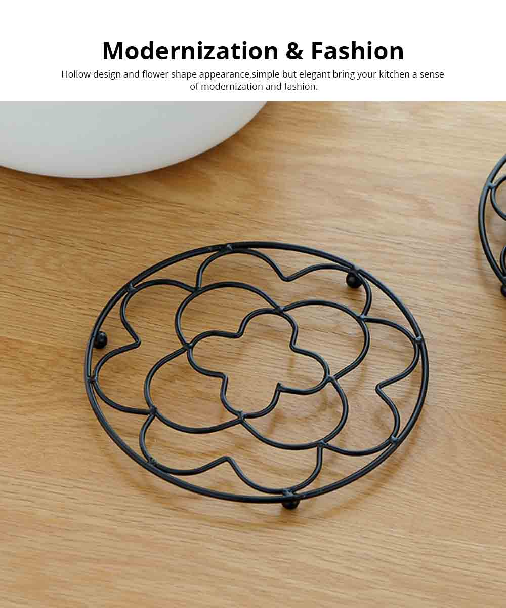 Placemat Creative Anti-hot Iron Round Table Pot Mat Kitchen Accessory Simple Casserole Pad Bowl Mat Coaster 1