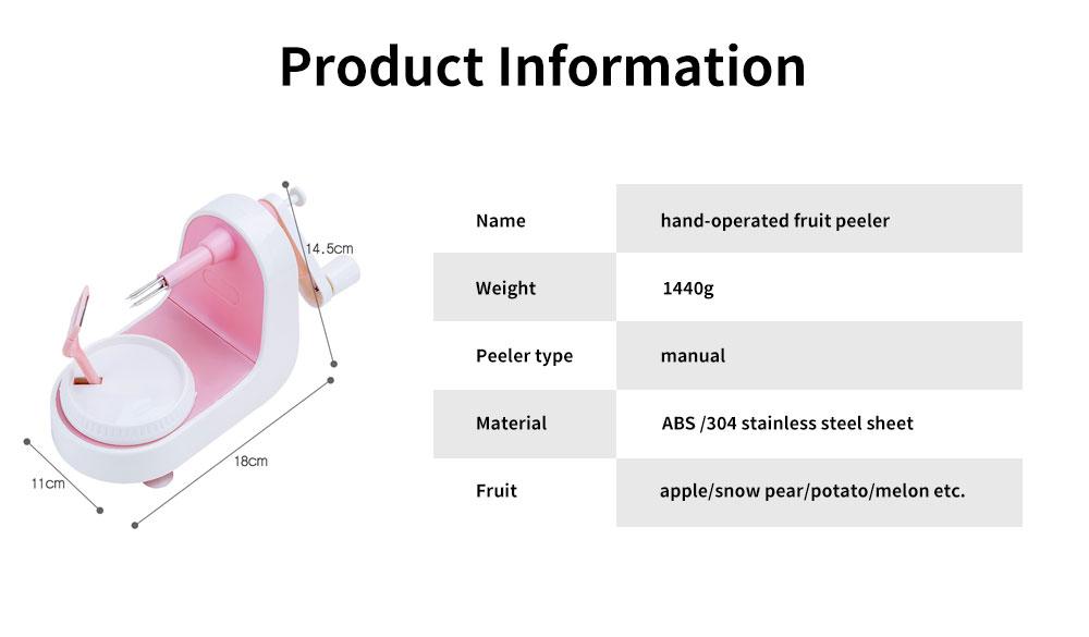 Hand-cranked Multi-function Peeling Machine, Household Fruit Peeling Knifewith Crank Handle & Drag Fruit Key Design 6