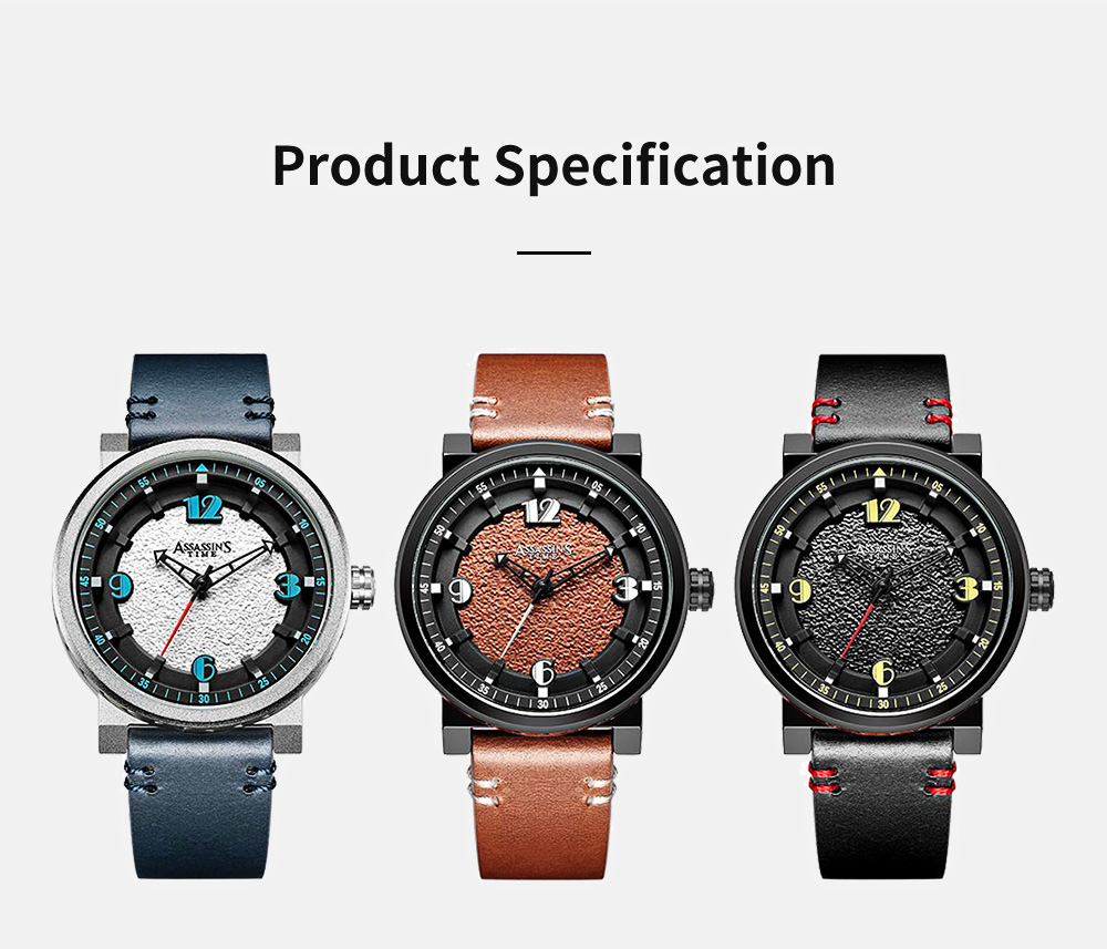 Minimalist Stylish Casual Sports Wrist Watch with Leather Strap Waterproof Watch Quartz Watch for Men Women 7