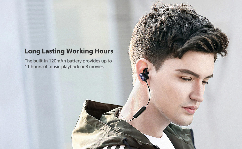 Xiaomi Wireless Headphone Sport Bluetooth Headset Sweat Proof In-ear Hours Playing For Gym Running Workout 4