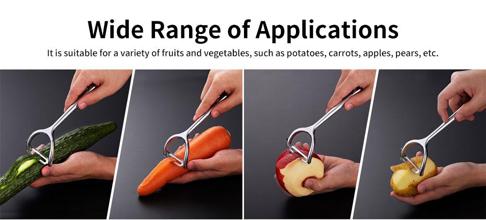 Multifunctional Peeling Artifact, Selected Zinc Alloy Kitchen knife, with Bionic Shark-tooth Blade Design 5