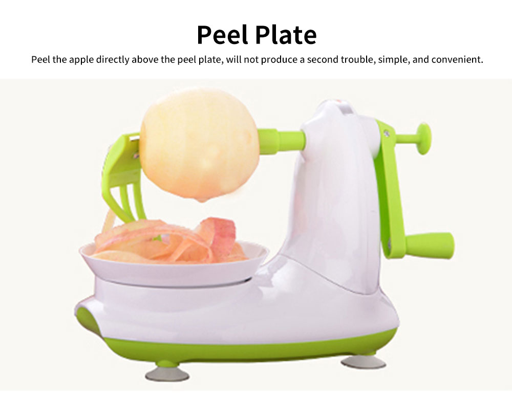 Thickened ABS Peeling Apple Artifact, Multifunctional Peeler, with Crank Handle and Drag Fruit Key 3