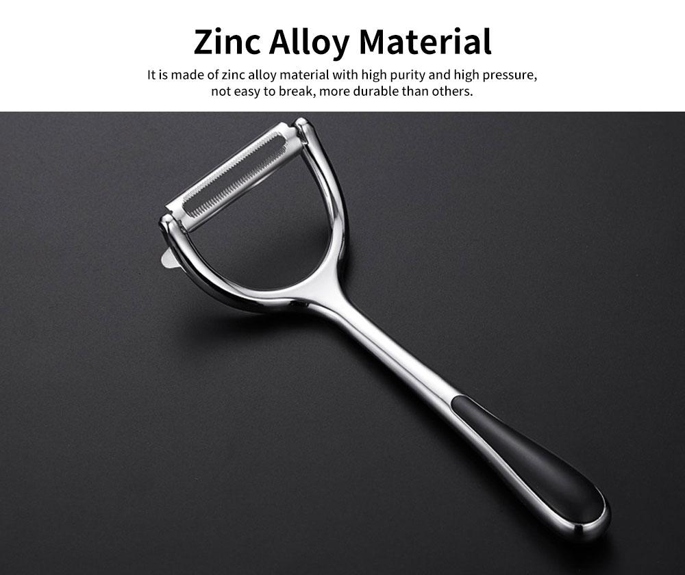 Multifunctional Peeling Artifact, Selected Zinc Alloy Kitchen knife, with Bionic Shark-tooth Blade Design 2