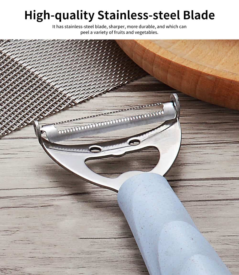 Wheat Element Handle Stainless-steel Paring Knife, Fruit Peeler, with Sharp Stainless-steel Blade 2