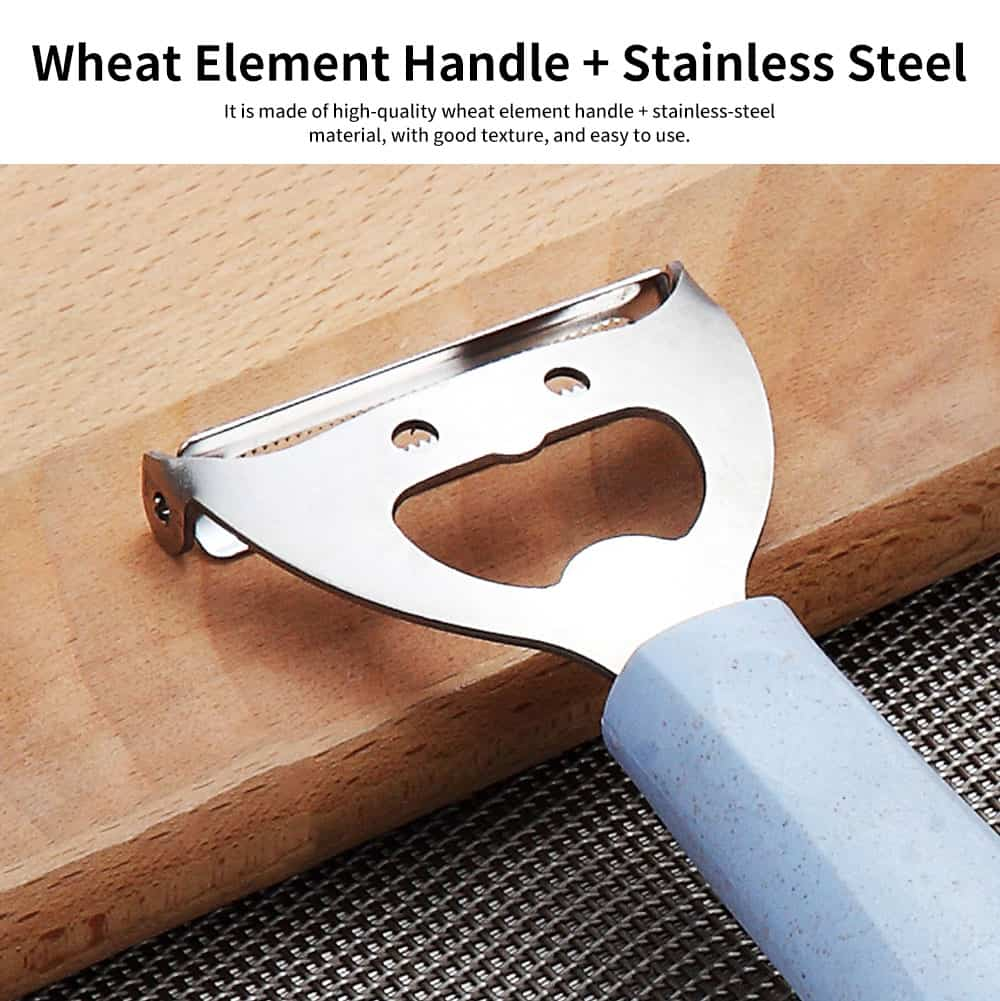 Wheat Element Handle Stainless-steel Paring Knife, Fruit Peeler, with Sharp Stainless-steel Blade 1