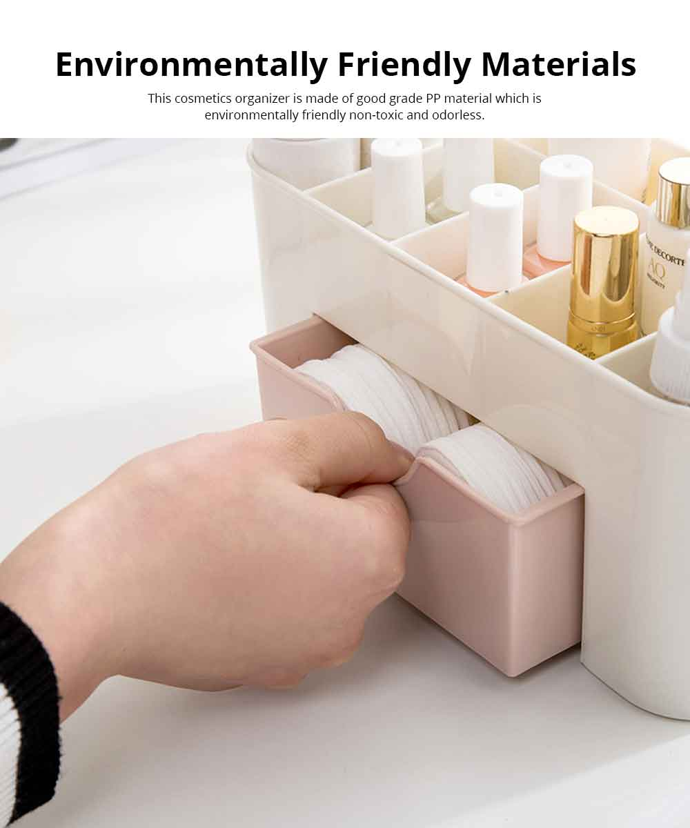 Cosmetic Make Up Organizer Display Table Desktop Storage Stand Saving Space Makeup Drawer Type Storage Box Case Holder Brush Pen Jewelry Organizer 3