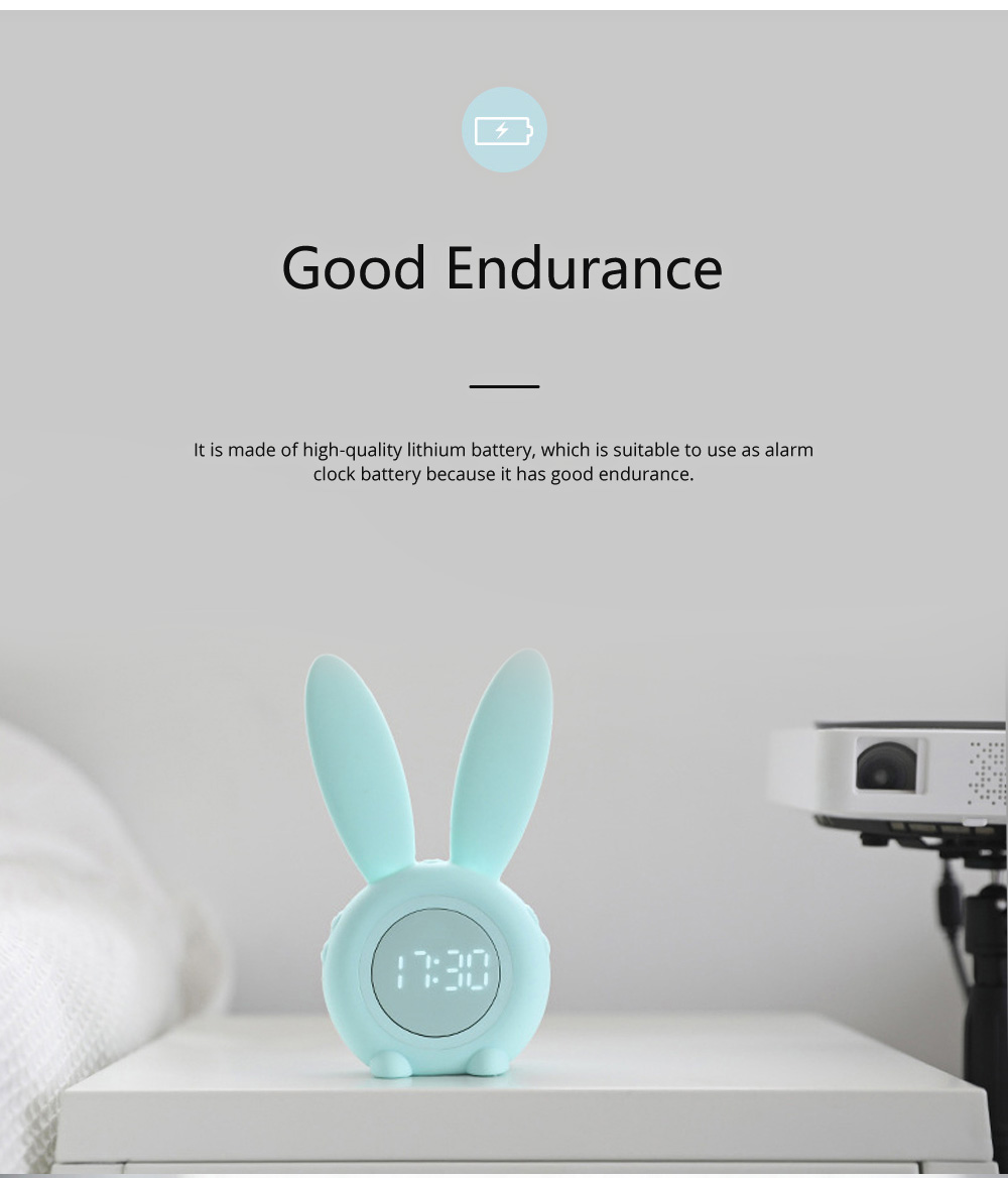 Rabbit Electronic Alarm Clock Timing Subdued Lights Magnetic Suction LED Clock Good Endurance Wake Up Tools 5
