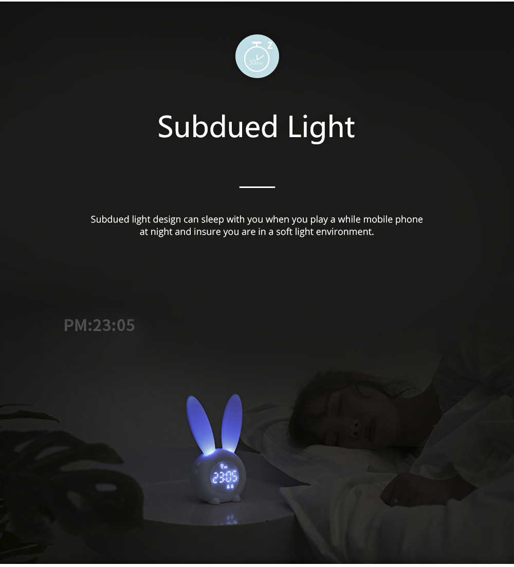Rabbit Electronic Alarm Clock Timing Subdued Lights Magnetic Suction LED Clock Good Endurance Wake Up Tools 3