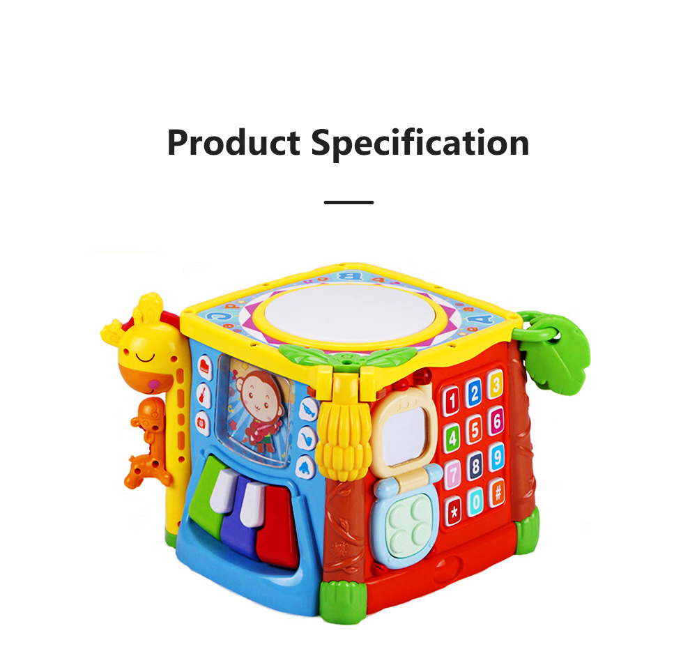 Goodway Plastic Hand Drums with Six Face Children's Educational Toys for Language Skills and Hand Flexibility Training 8