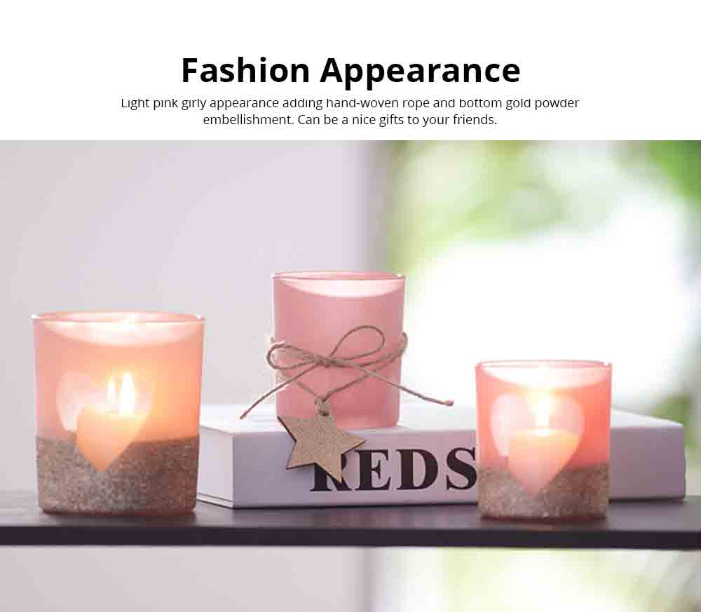 Handmade DIY Romantic Scented Candle Glass Dinner Bedroom Girly Decor Candle Holder Candlelight Props Candle Cup 3