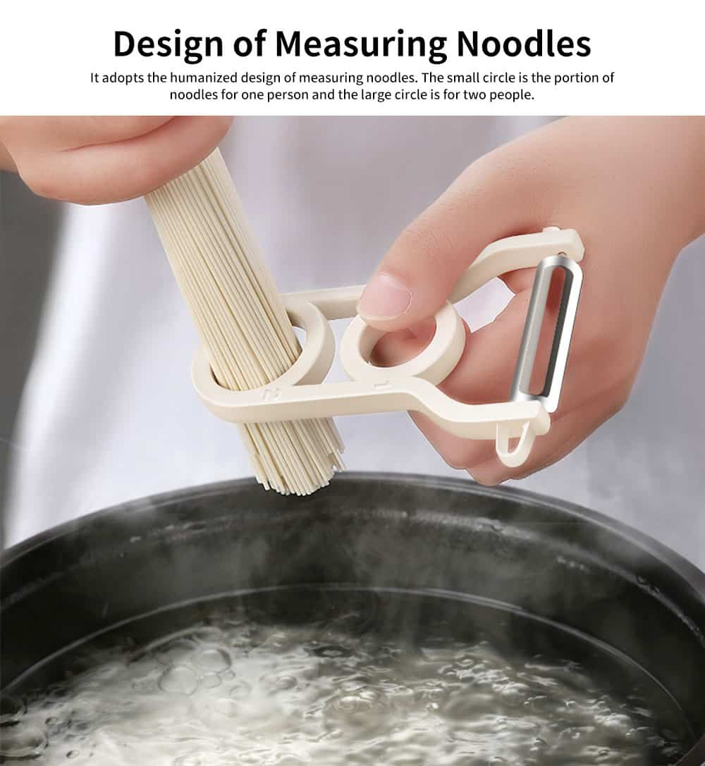 ABS Stainless-steel Multi-function Paring Knife, Practical Peeling artifact, with The Design of Measuring Noodles 1