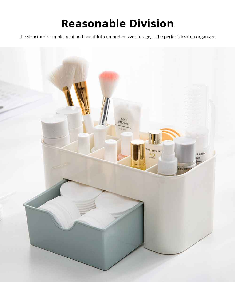 Cosmetic Make Up Organizer Display Table Desktop Storage Stand Saving Space Makeup Drawer Type Storage Box Case Holder Brush Pen Jewelry Organizer 2