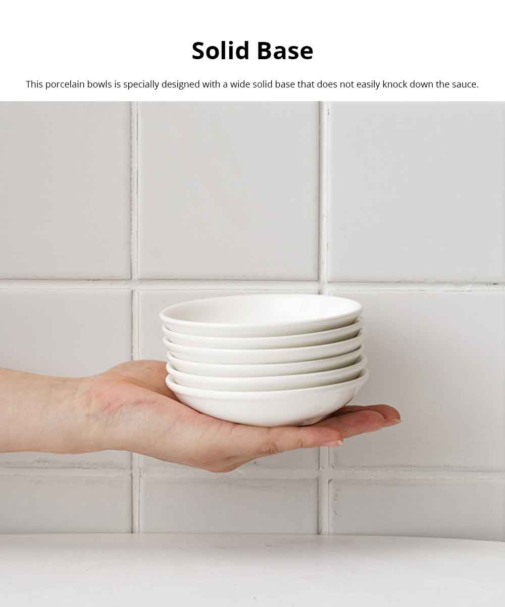 Dipping Dish Lovely Ins Nordic Style Porcelain Dip Bowls White Kitchen Tableware Dishes For Tomato Sauce, Soy, BBQ 2