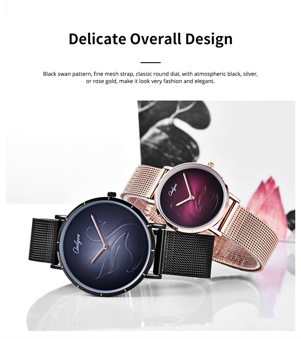 2 Pack Ultra Thin Couple Lovers Wrist Watches Set with Mesh Strap and Quartz Movement for Lovers 7