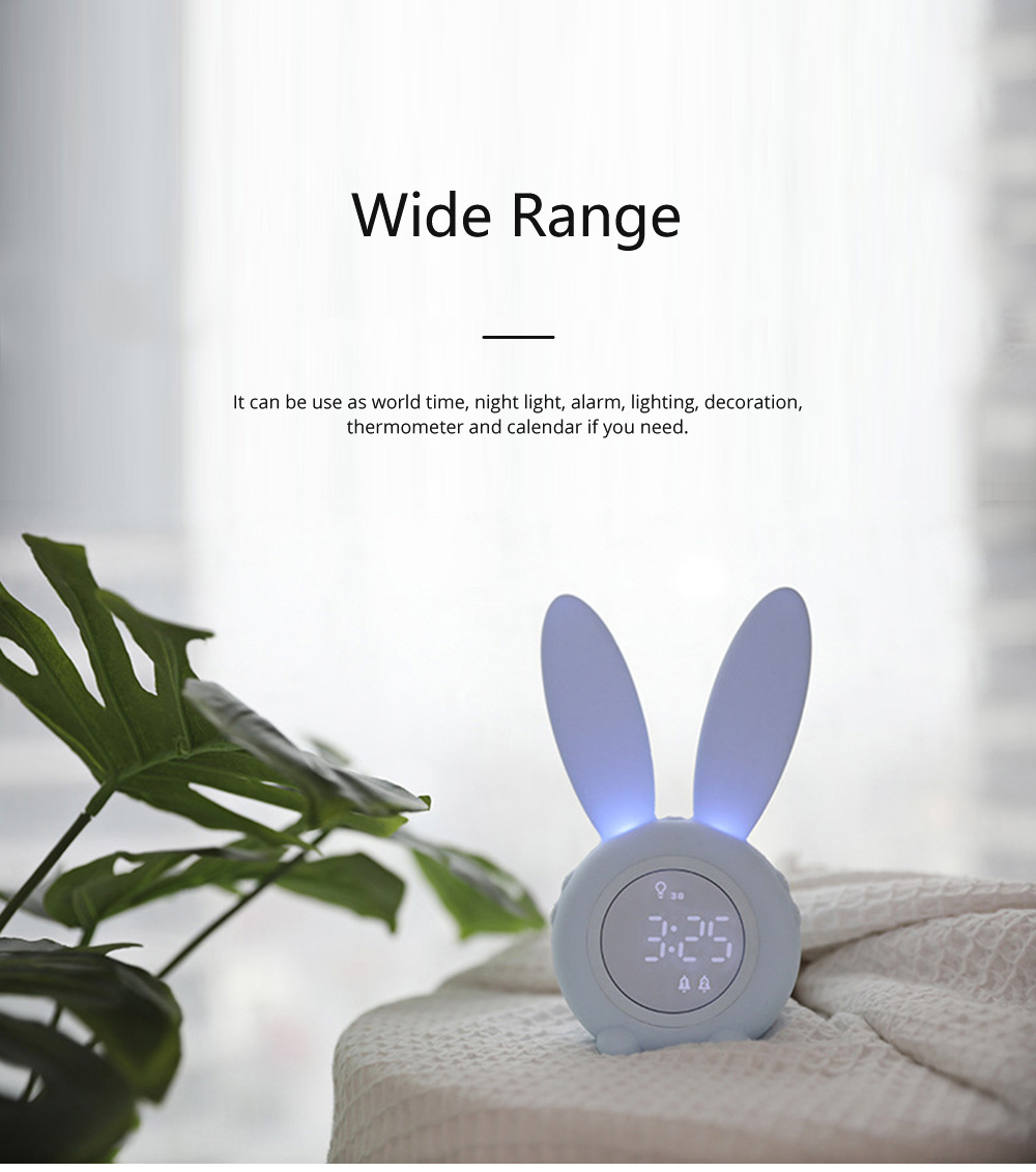 Rabbit Electronic Alarm Clock Timing Subdued Lights Magnetic Suction LED Clock Good Endurance Wake Up Tools 6