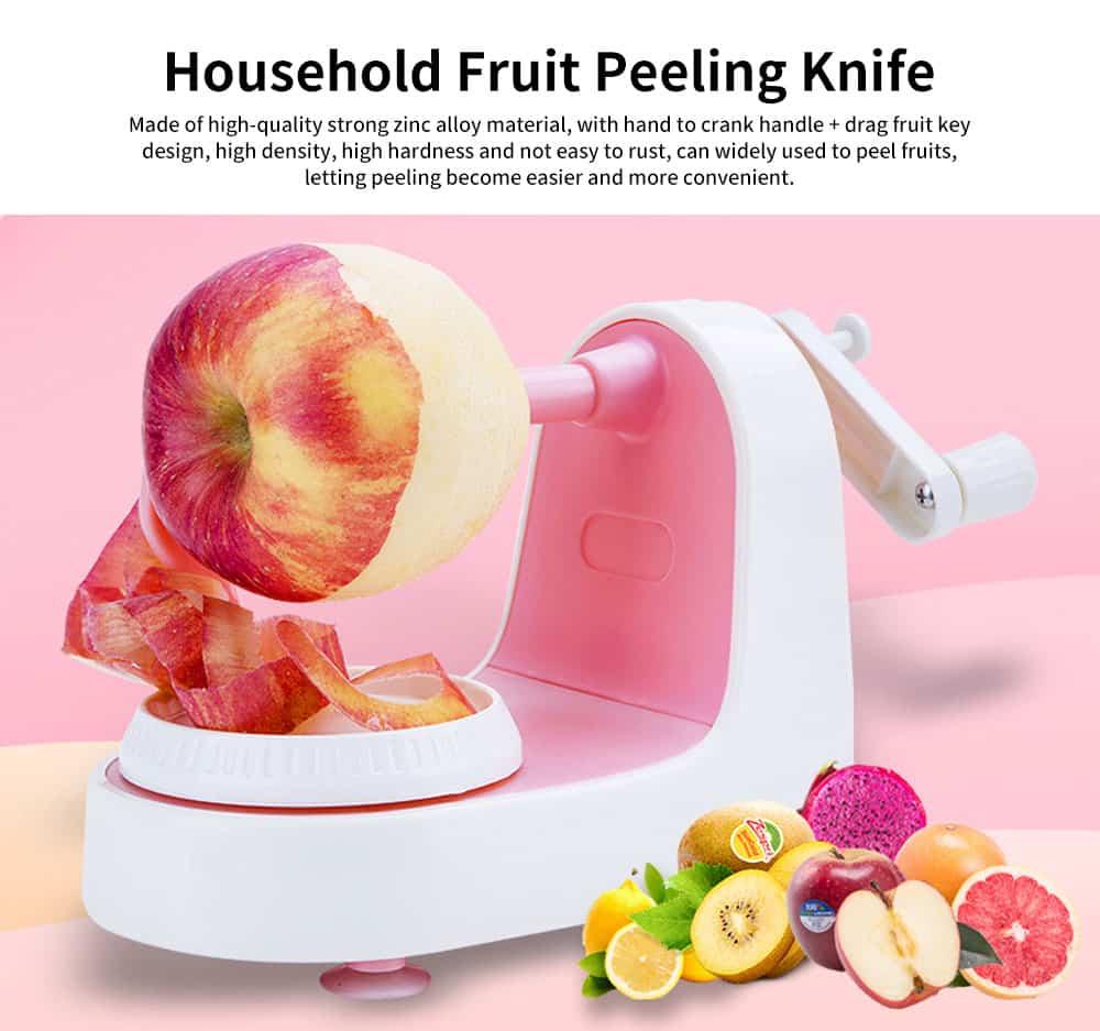 Hand-cranked Multi-function Peeling Machine, Household Fruit Peeling Knifewith Crank Handle & Drag Fruit Key Design 0