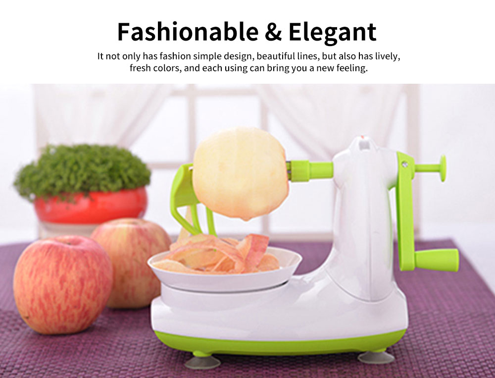 Thickened ABS Peeling Apple Artifact, Multifunctional Peeler, with Crank Handle and Drag Fruit Key 5