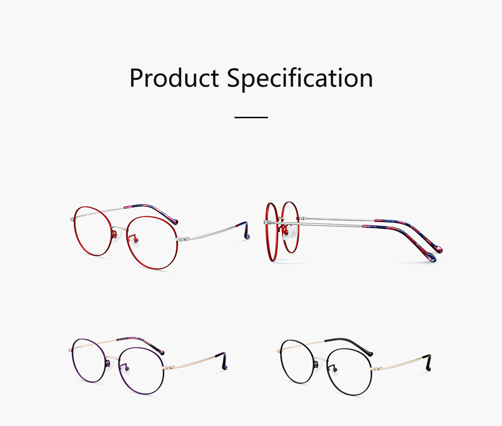 Light Vintage Minimalist Casual Snow Paint Round Glasses Frame with Fashionable Flower Model Legs Comfortable Nose Pad 8
