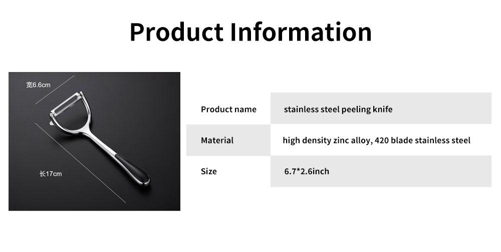 Multifunctional Peeling Artifact, Selected Zinc Alloy Kitchen knife, with Bionic Shark-tooth Blade Design 6