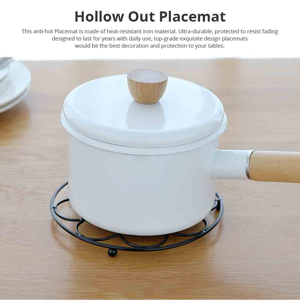 Placemat Creative Anti-hot Iron Round Table Pot Mat Kitchen Accessory Simple Casserole Pad Bowl Mat Coaster 0