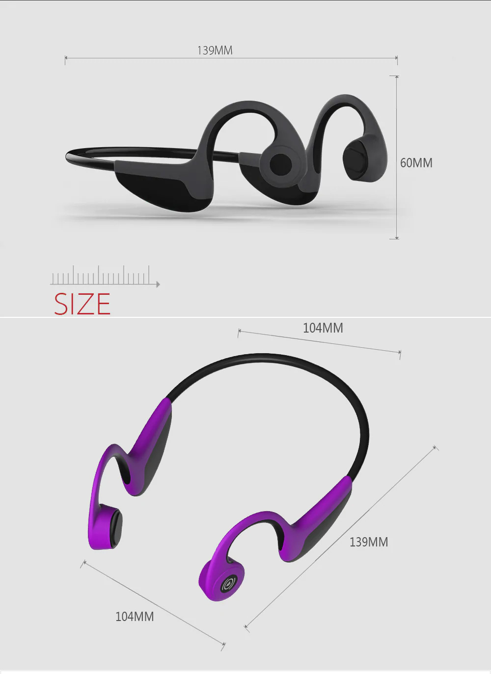 Global Crown Bluetooth Music Call Rear-mounted Sports Headphone Bone Conduction Headphones For Jogging Running Driving Cycling 14