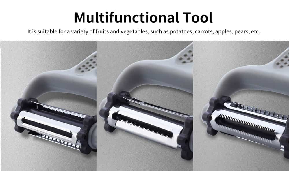 Stainless-steel Thickening Multifunctional Fruit Peeler, Kitchen Peeling Knife, with Three Stainless-steel Nippers 4