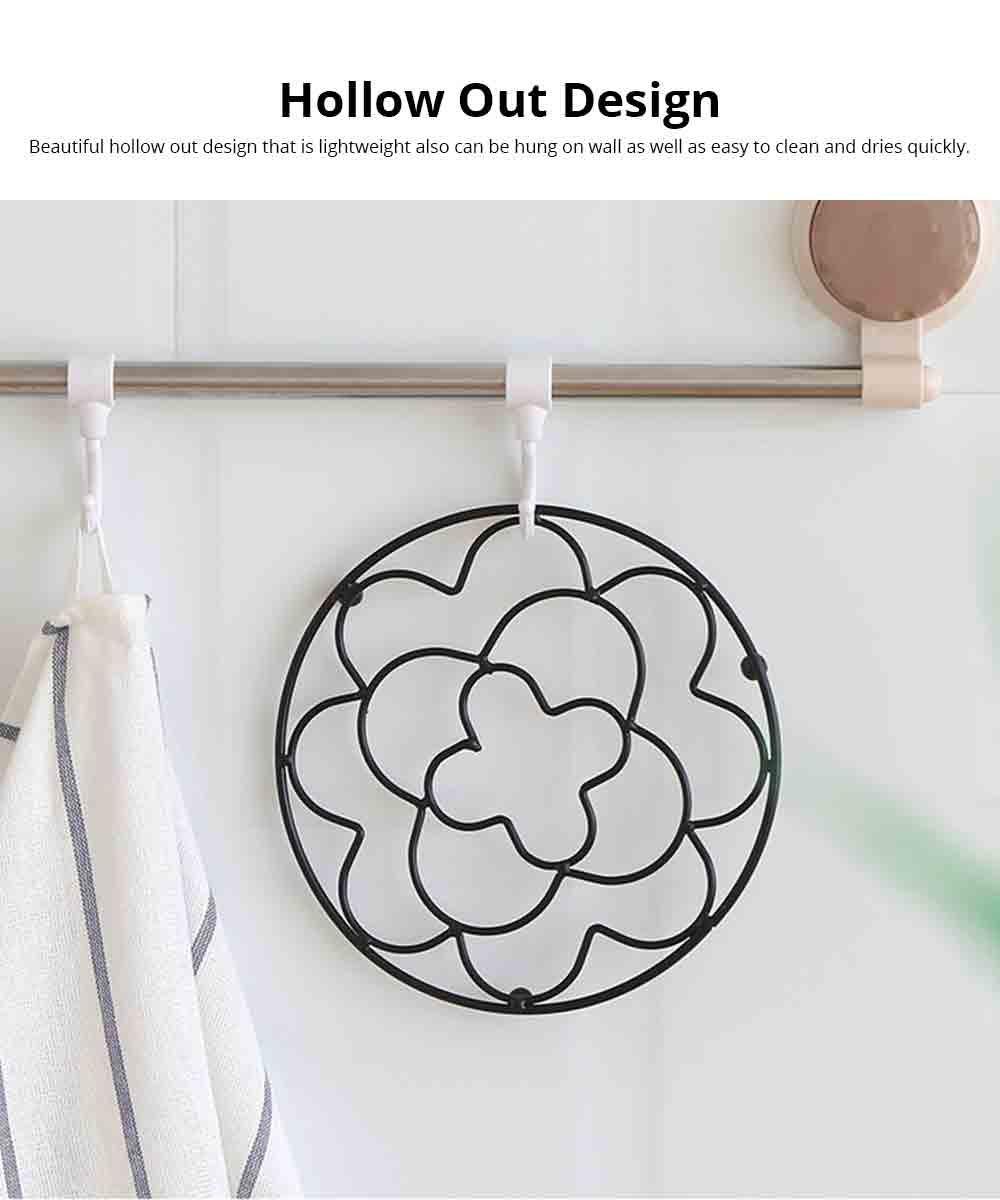 Placemat Creative Anti-hot Iron Round Table Pot Mat Kitchen Accessory Simple Casserole Pad Bowl Mat Coaster 5