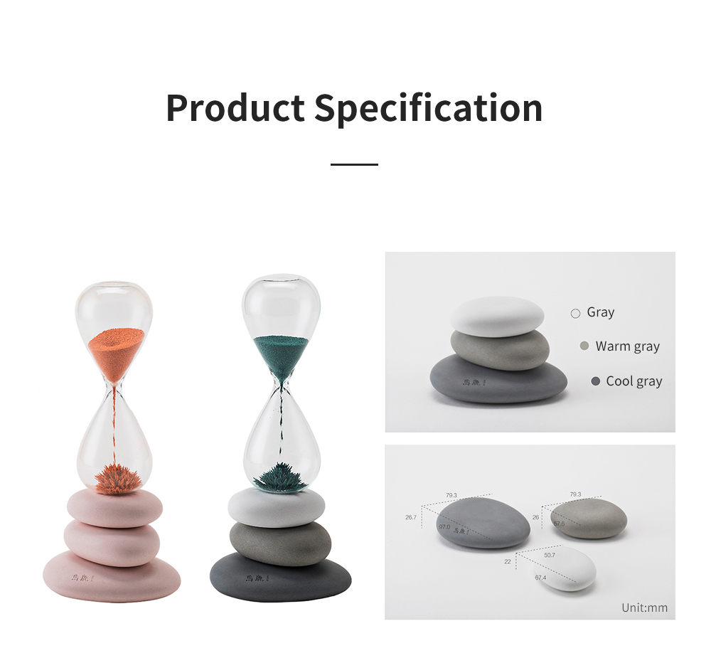Round Pebble Hourglass Creative Personalized Desktop Timer for Decoration Creative Home Furnishings 6