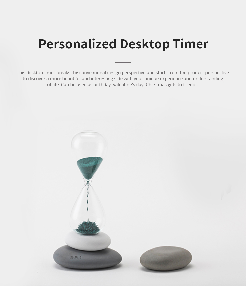 Round Pebble Hourglass Creative Personalized Desktop Timer for Decoration Creative Home Furnishings 0