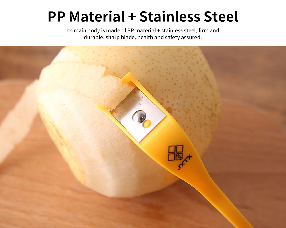 Exquisite Printing and Dyeing Apple Peeler, Fruit Peeling Artifact with Finger Ring Buckle of Peeler 3