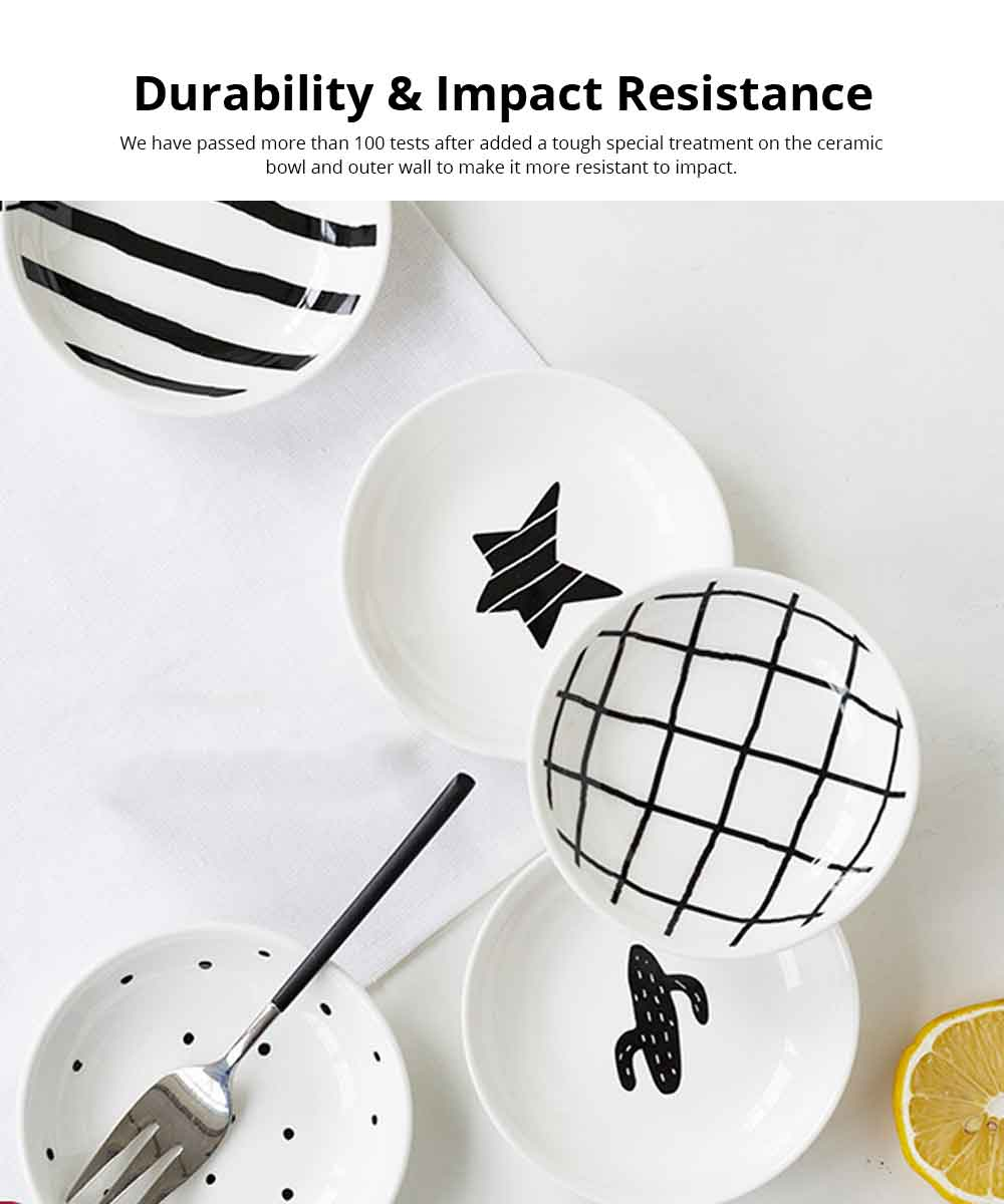 Dipping Dish Lovely Ins Nordic Style Porcelain Dip Bowls White Kitchen Tableware Dishes For Tomato Sauce, Soy, BBQ 3