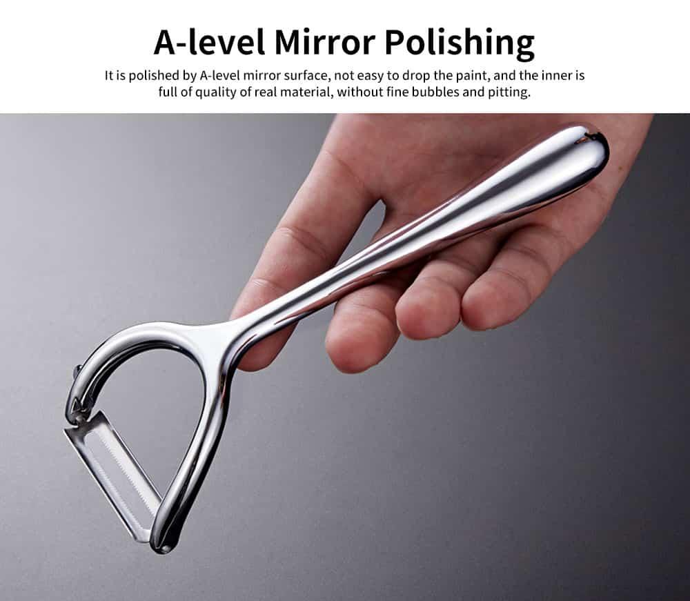 Multifunctional Peeling Artifact, Selected Zinc Alloy Kitchen knife, with Bionic Shark-tooth Blade Design 4