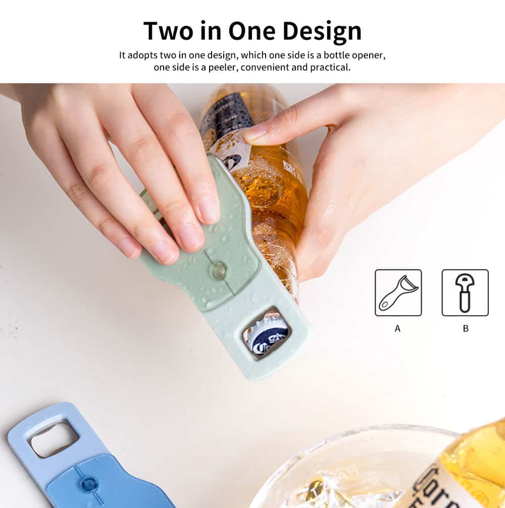 Labor-saving Household Fruit Peeling Knife, Dual-use Beer Bottle Opener Fruit Peeling Knife, for A Variety of Fruits and Vegetables 2