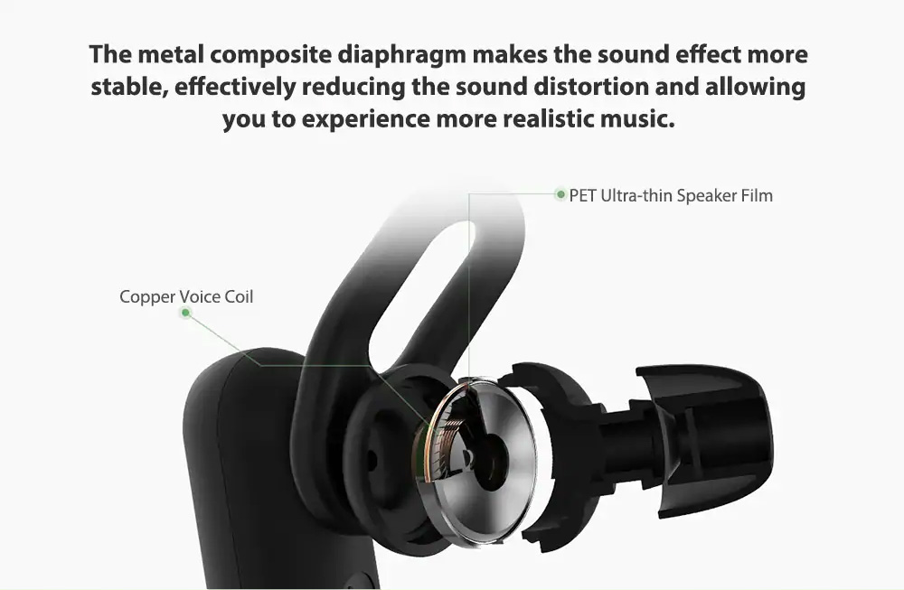 Xiaomi Wireless Headphone Sport Bluetooth Headset Sweat Proof In-ear Hours Playing For Gym Running Workout 6