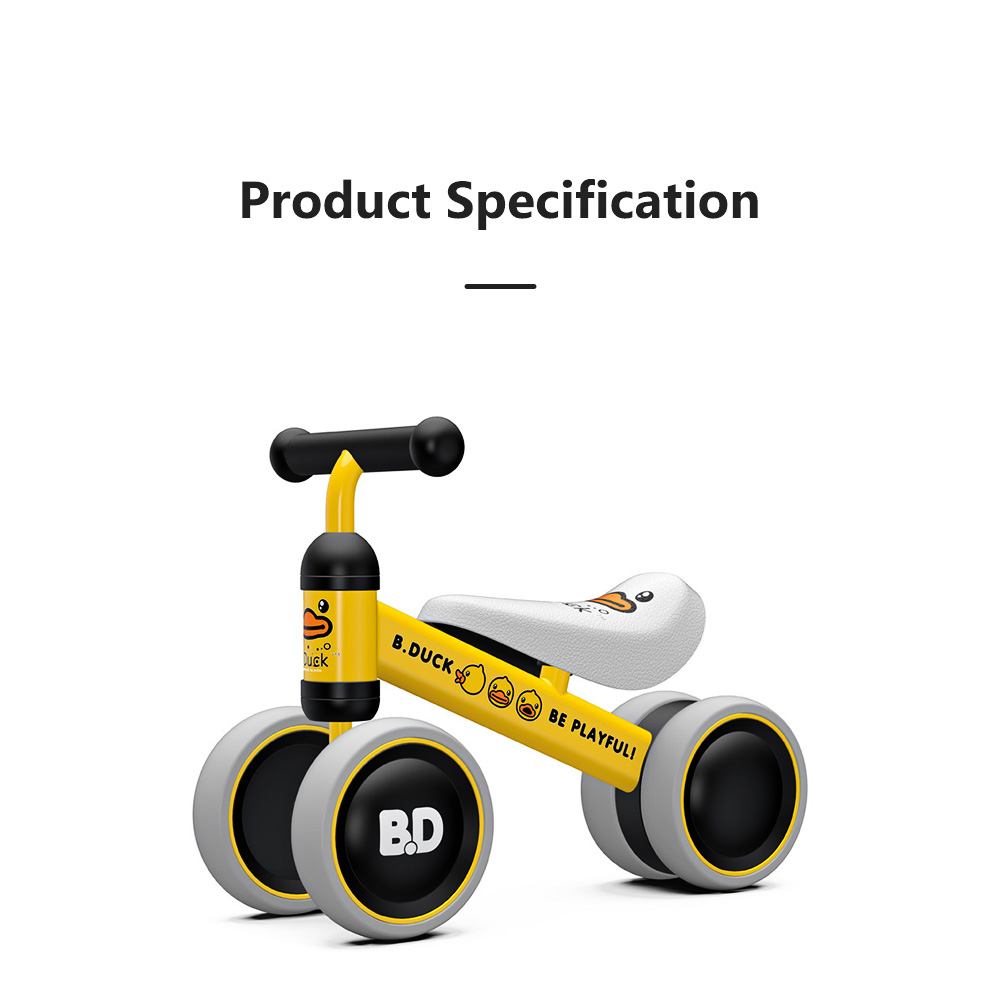 Four-Wheeler Balance Bike for 1-3 Years Old Children Without Pedals Boys and Girls Baby Toy Walker Scooter 7