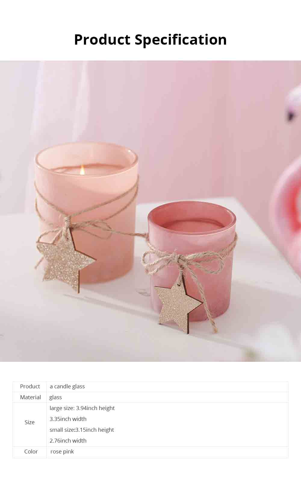 Handmade DIY Romantic Scented Candle Glass Dinner Bedroom Girly Decor Candle Holder Candlelight Props Candle Cup 6