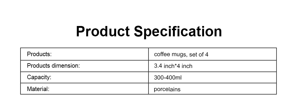 Funny Mugs Set of 4, Coffee Mugs Milk Cups with Leaf Pattern, Porcelain Mugs for Men and Women Travel or Household 6