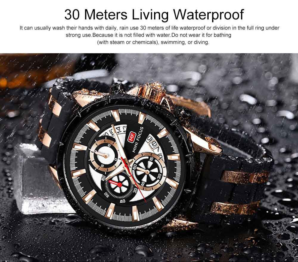 Classic Smart Electronic Watch with Multifunctional Rotary Calendar & Luminous Mode, Waterproof Watch with Wear Resistant Crystal Watch Mirror 7