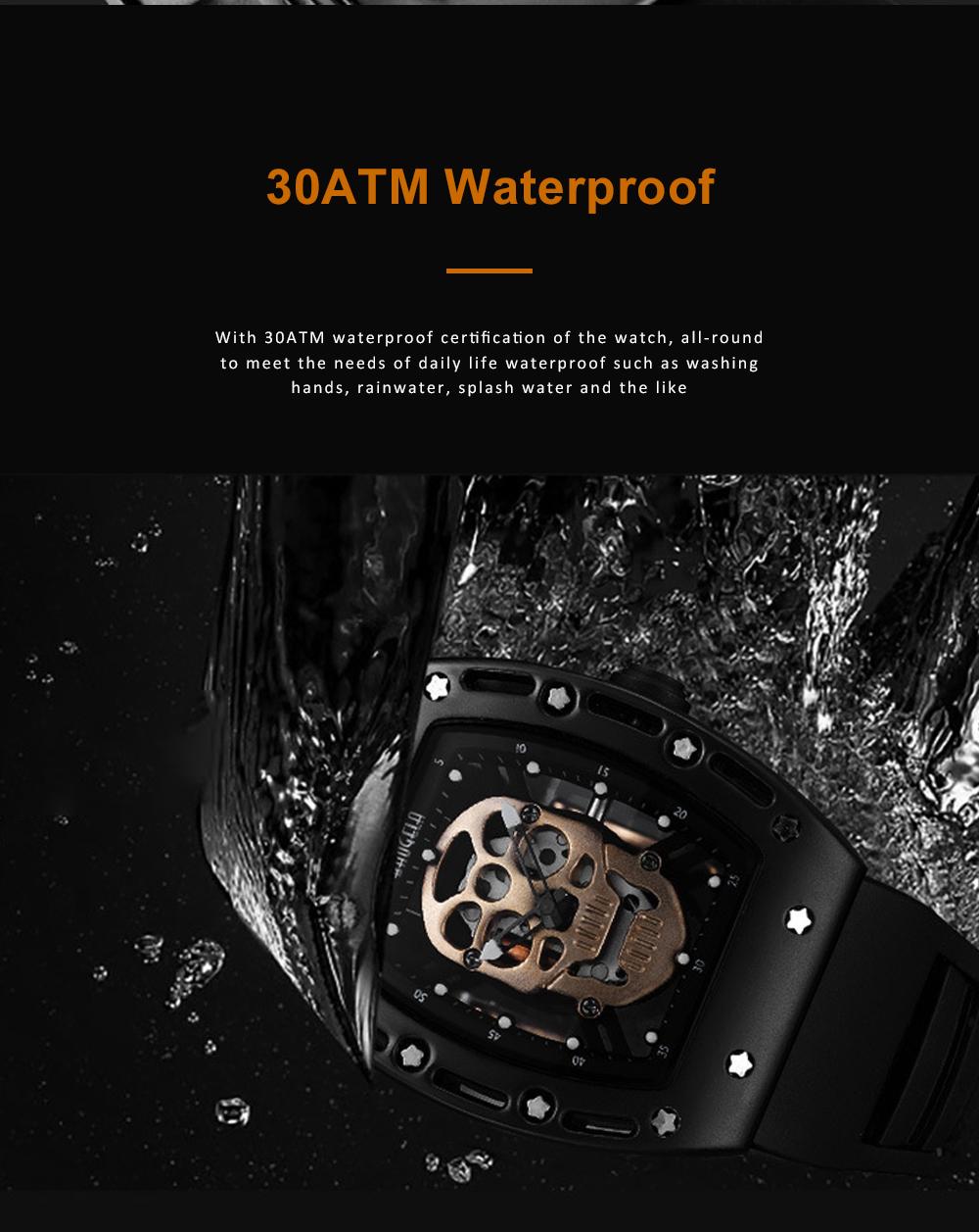 2020 Hot Sell Watches Men Luxury Brand Automatic Silicone Shantou Hollow Men's Quartz Watch Waterproof Movement 5