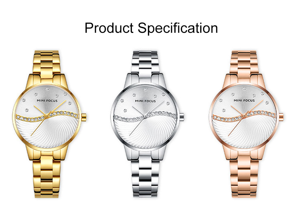 Multifunctional Electronic Watch Setting Auger, Waterproof Watch with Wear Resistant Crystal Watch Mirror for Women Elegant Quartz Wrist Watch 8