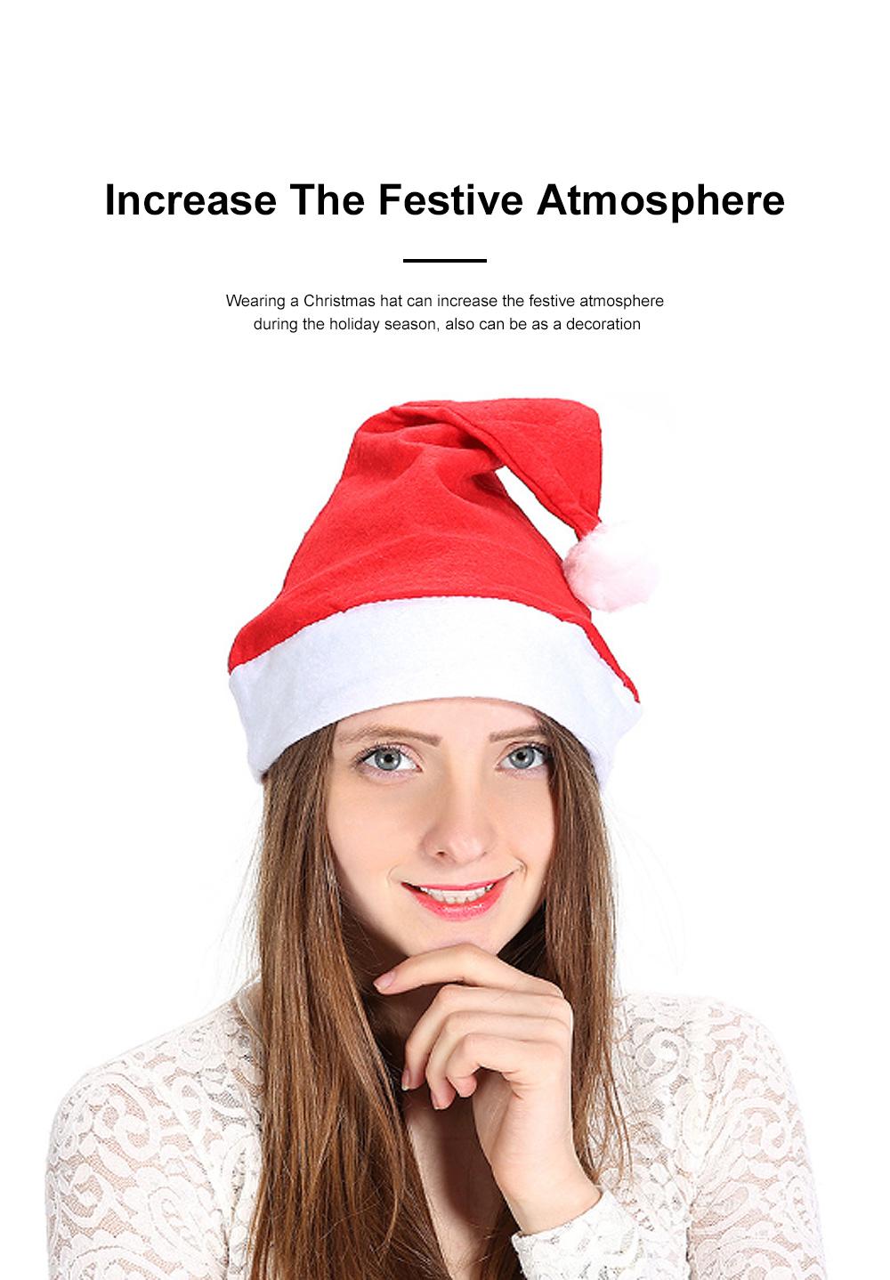New Manufacturers Wholesale Children's Adult Santa Claus Hat General Non-woven Christmas Decorations Hats 1